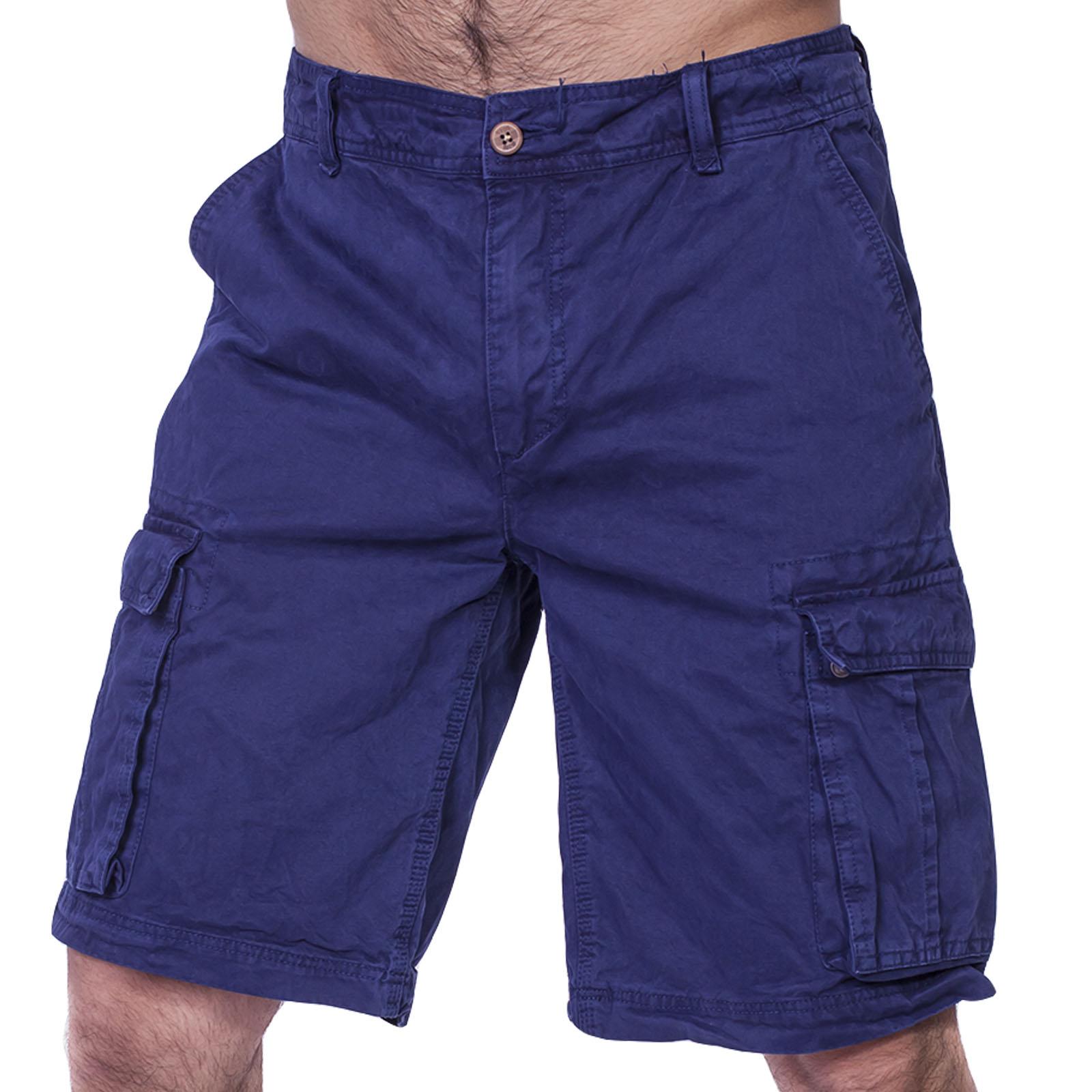 Синие мужские шорты бермуды CASTRO