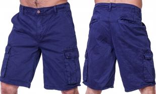 Заказать синие мужские шорты бермуды CASTRO