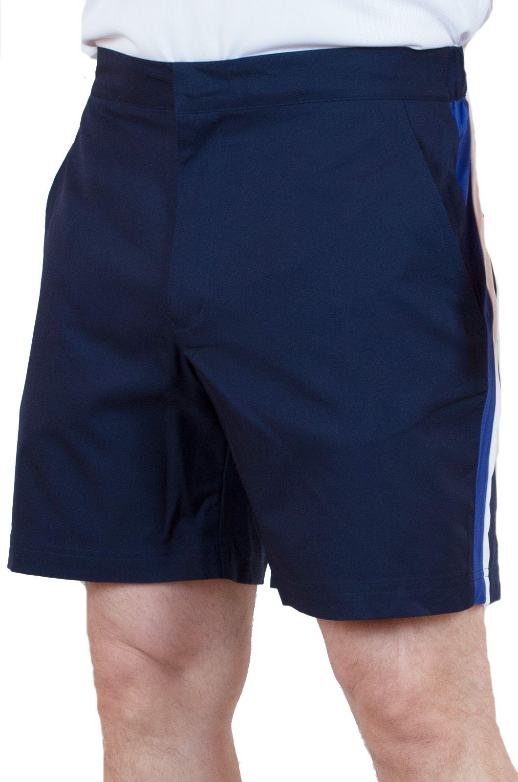 Синие шорты для мужчин с боковыми полосками