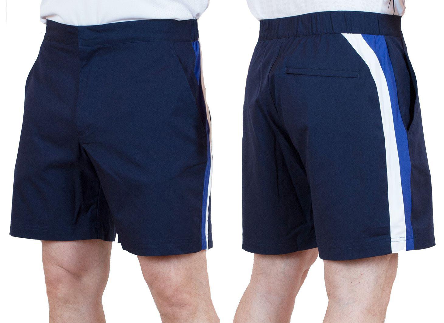 Заказать синие шорты для мужчин с боковыми полосками