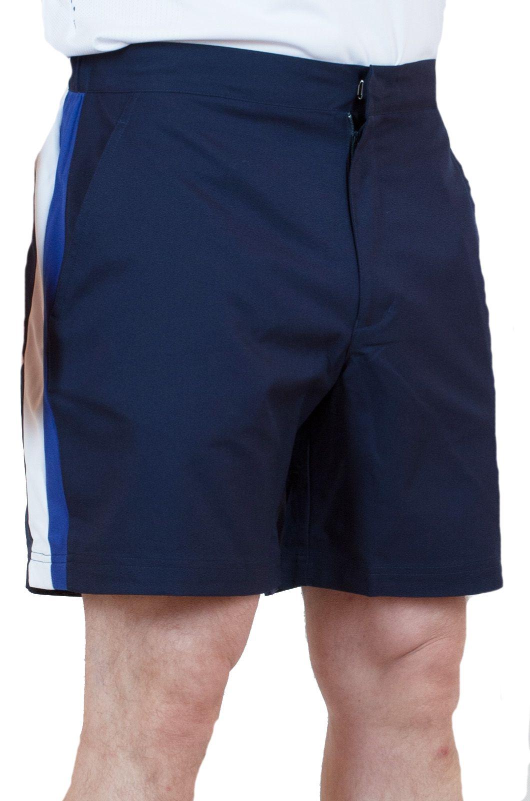 Синие шорты для мужчин с боковыми полосками с доставкой