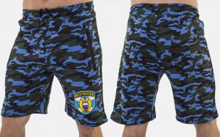 Синие удлиненные шорты с нашивкой ФСО - заказать в подарок