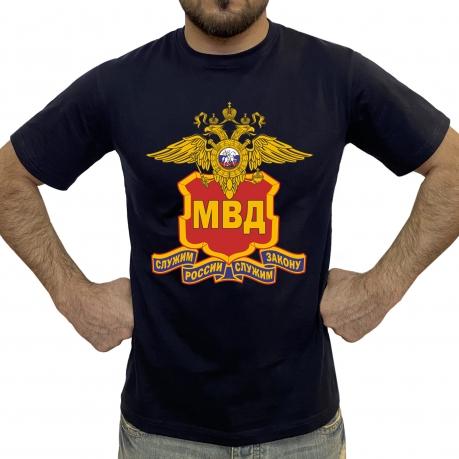 Синяя мужская футболка МВД