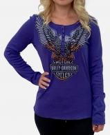 Синяя женская кофта Harley-Davidson
