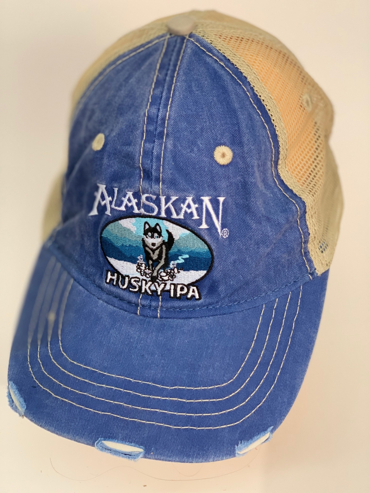 Синяя бейсболка AlaskaN с хаски