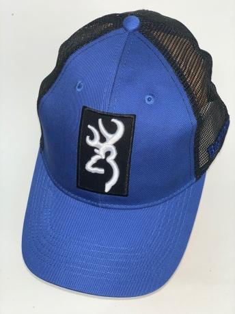 Синяя бейсболка Browning с вышивкой и черной сеткой