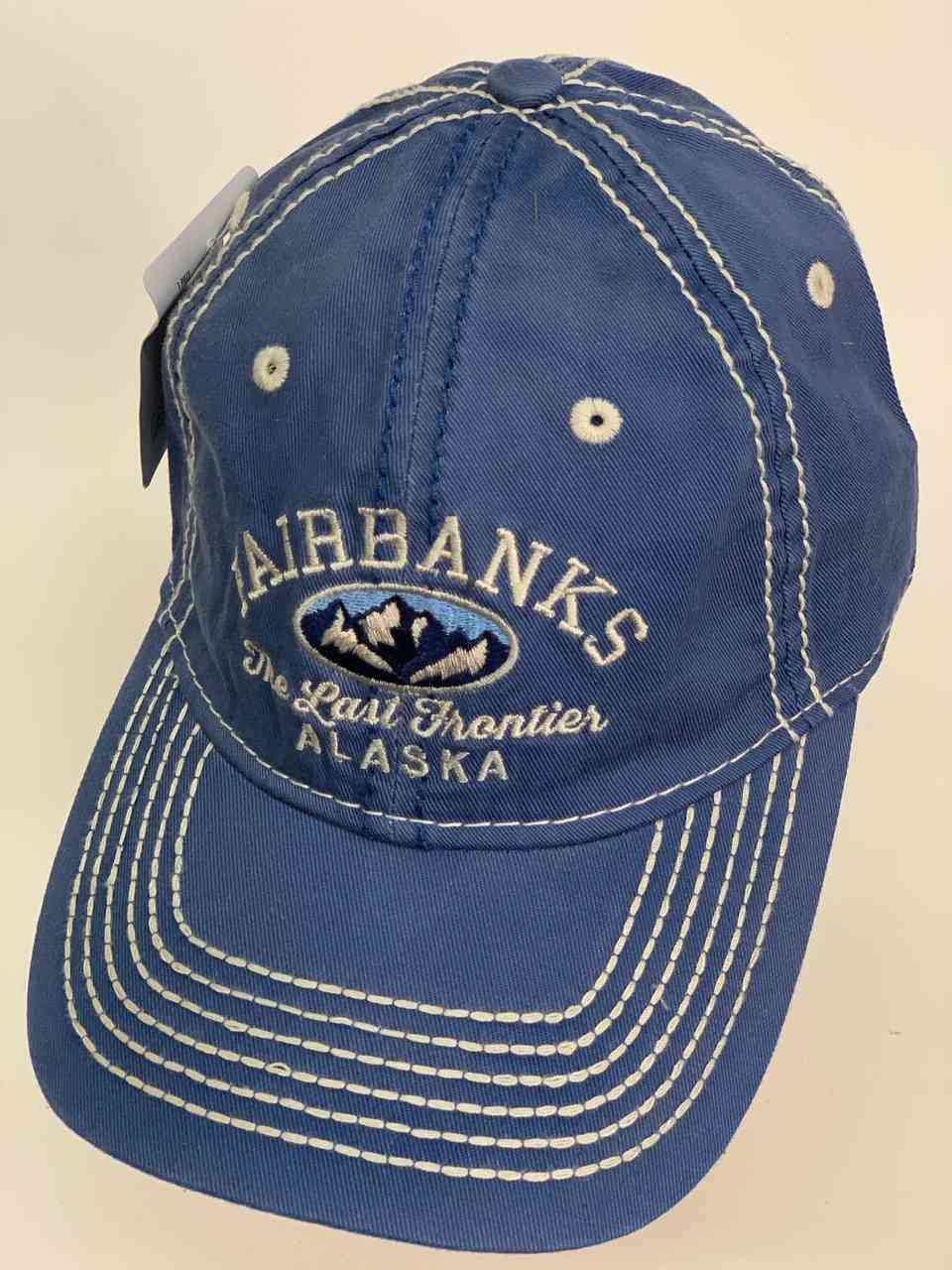 Синяя бейсболка FAIRBANKS ALASKA