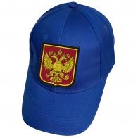 Синяя бейсболка Герб России