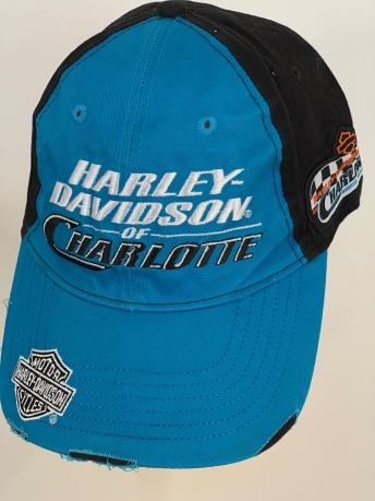 Синяя бейсболка Harley-Davidson с черным тылом