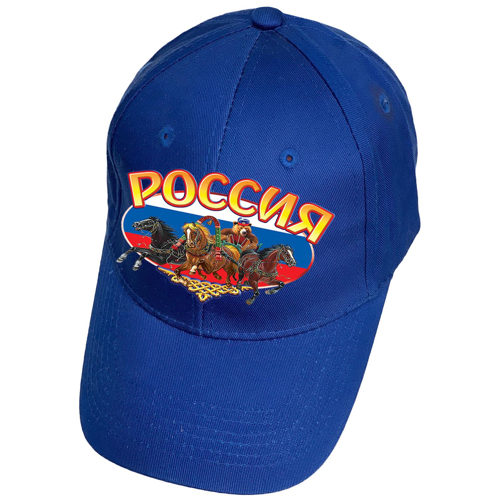 Синяя бейсболка Россия