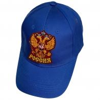 Синяя бейсболка с гербом России