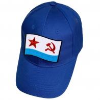 Синяя бейсболка с нашивкой флага ВМФ СССР