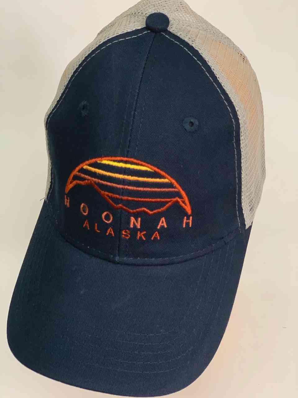 Синяя бейсболка с сеткой HOONAH Alaska