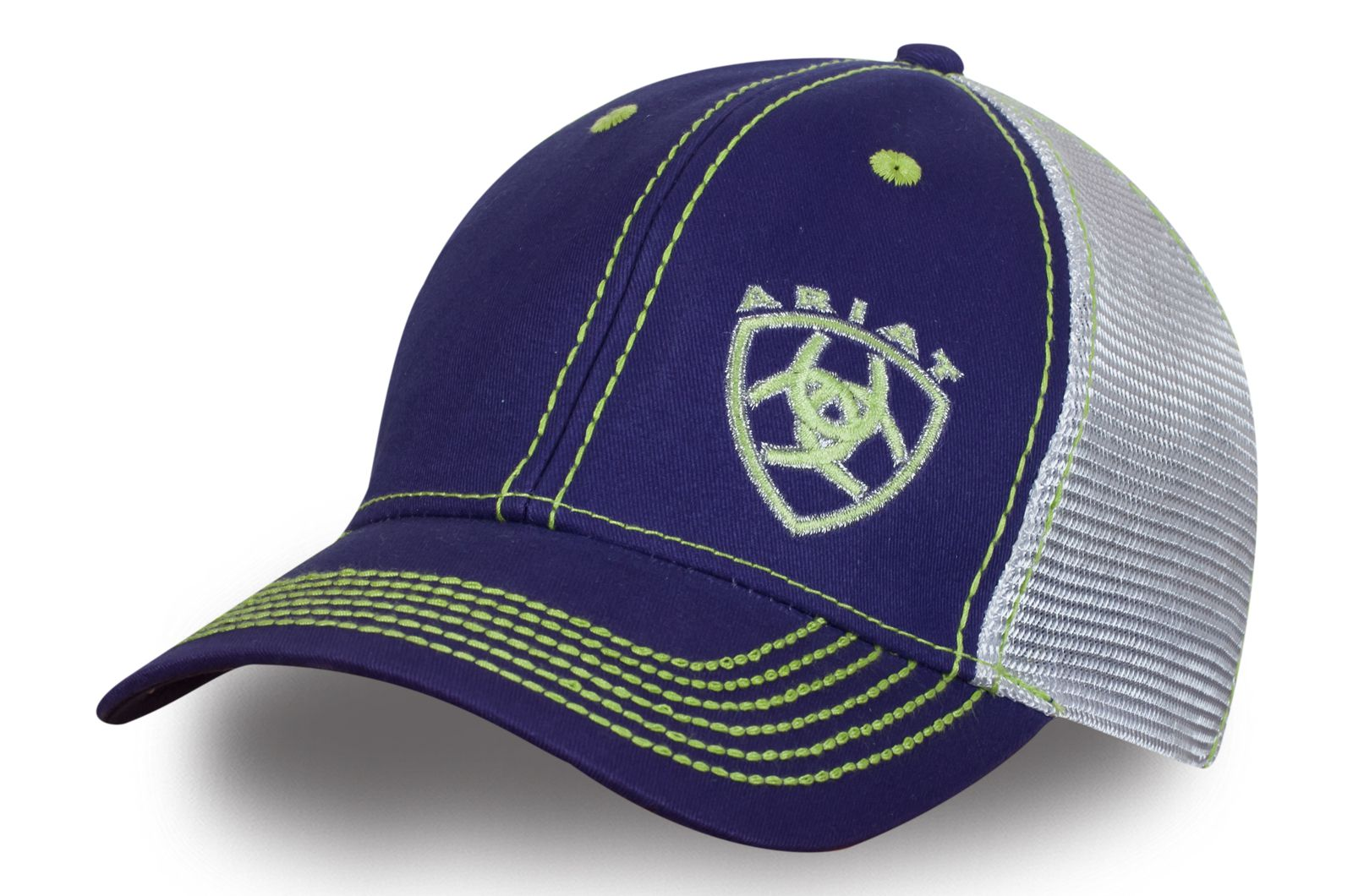 Синяя бейсболка с сеткой - купить в интернет-магазине