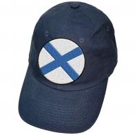 Синяя бейсболка с шевроном ВМФ