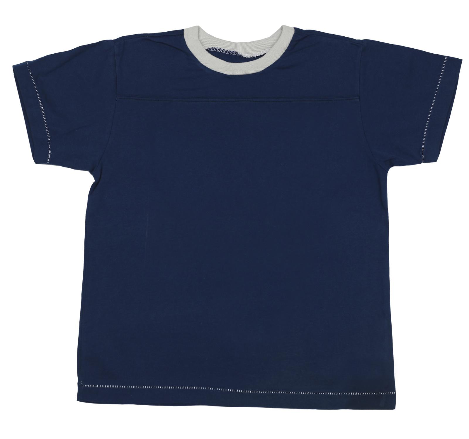 Синяя детская футболка из 100% хлопка