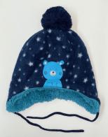 Синяя детская шапка Topomini на меху