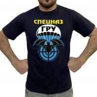 Синяя мужская футболка Спецназа ГРУ