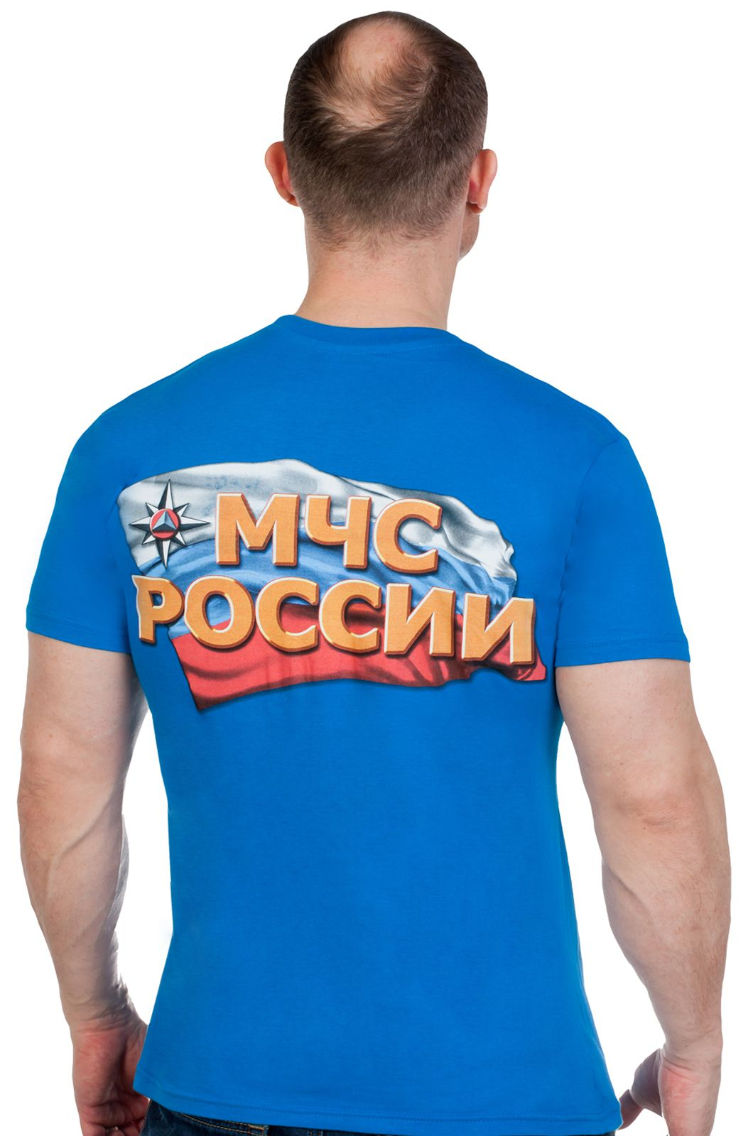 Купить синюю футболку МЧС