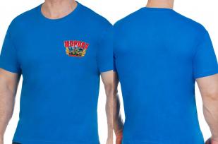 """Синяя футболка """"Морпех"""" - заказать в подрок"""