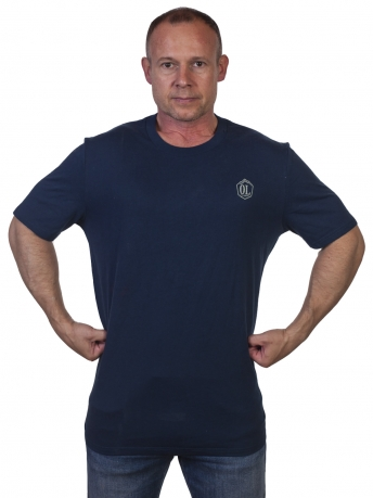 Синяя мужская футболка Outdoor life - купить в Военпро