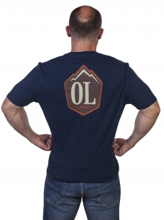 Синяя мужская футболка Outdoor life - купить по низкой цене