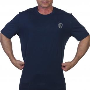 Синяя мужская футболка Outdoor life - купить в подарок