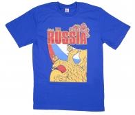 """Синяя футболка с гербом """"Russia"""""""