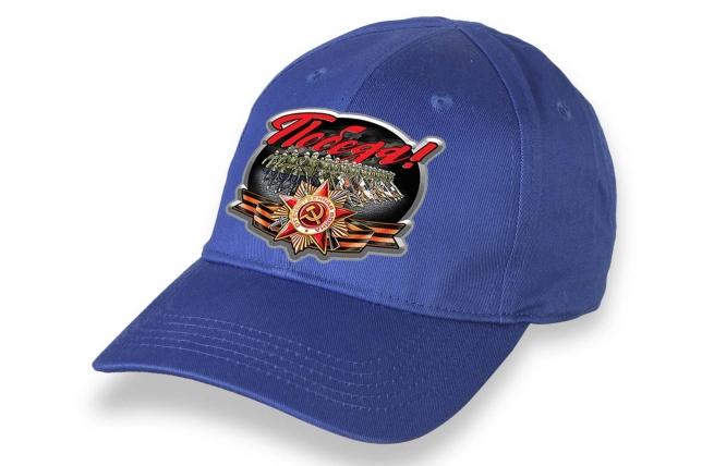 Синяя кепка для участия в шествиях на 9 мая