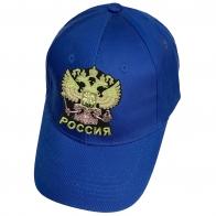 Синяя кепка Россия с государственным гербом