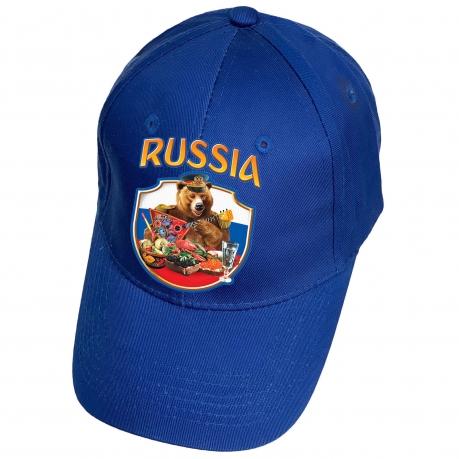 Синяя кепка Russia