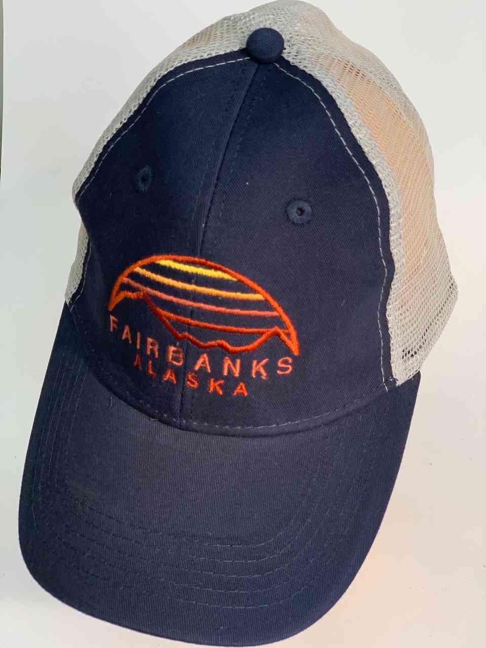 Синяя кепка с сеткой FAIRBANKS ALASKA