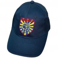 Синяя кепка с термопринтом ВВС