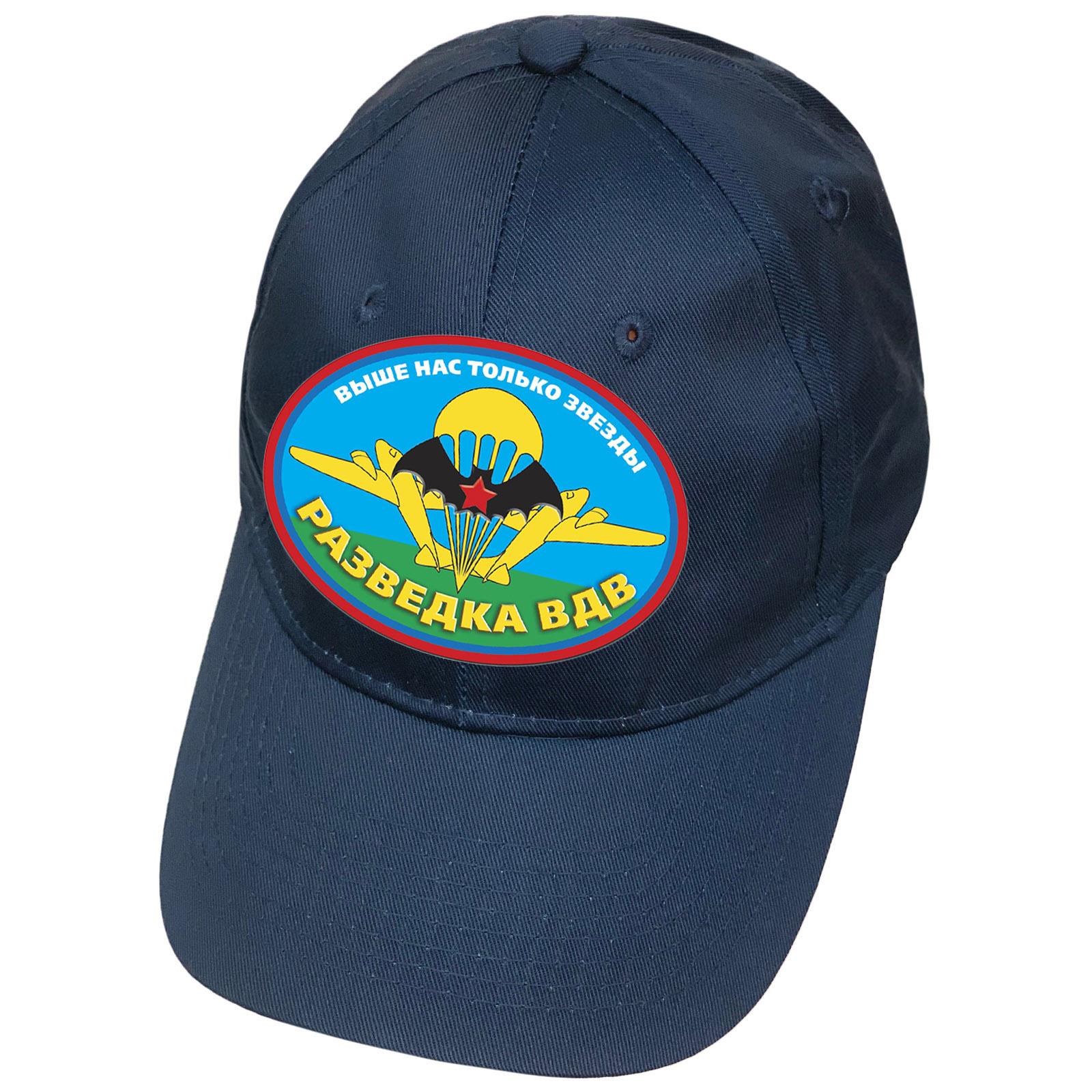 Синяя кепка с термотрансфером Разведка ВДВ