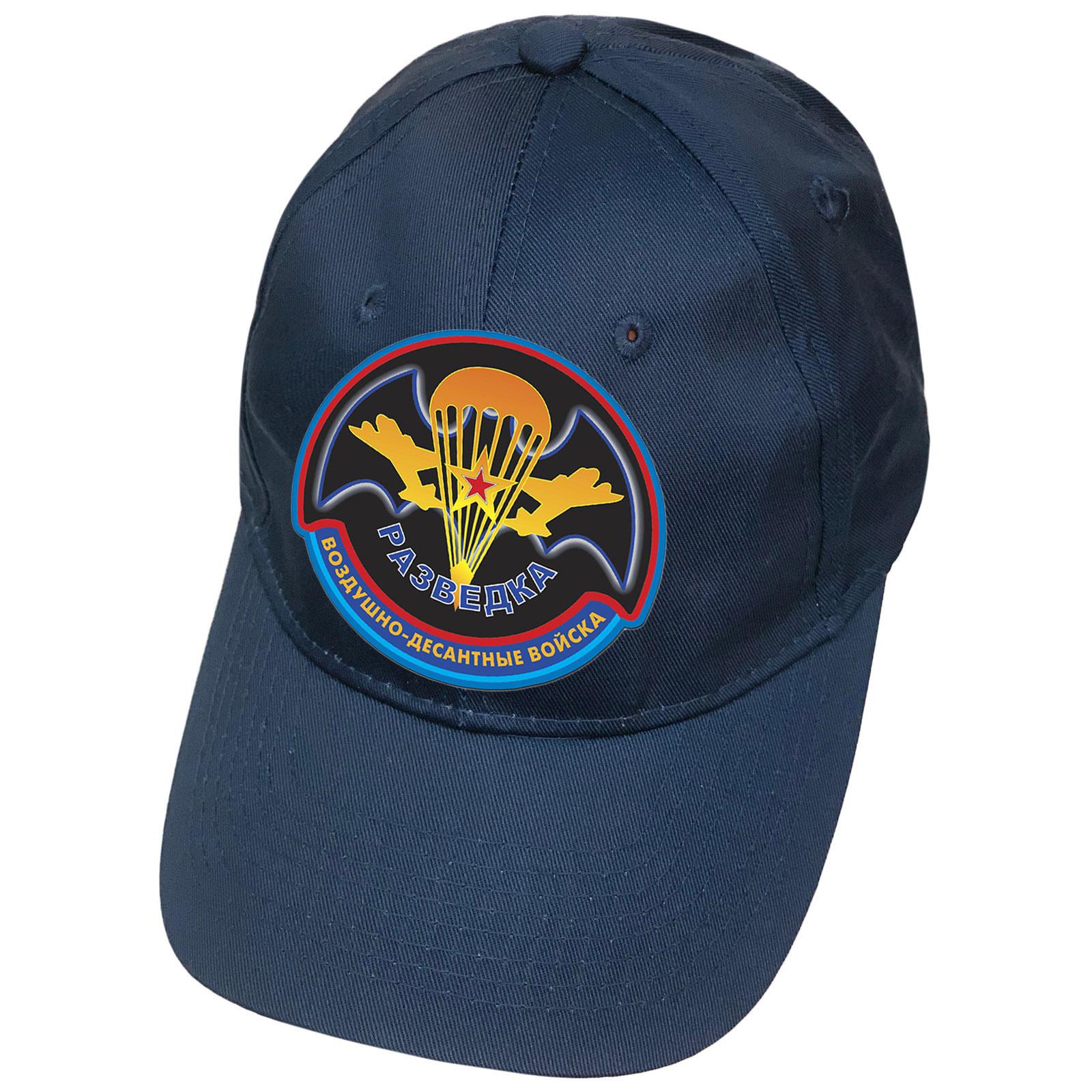 Синяя кепка с термотрансфером Разведка Воздушно-десантных войск