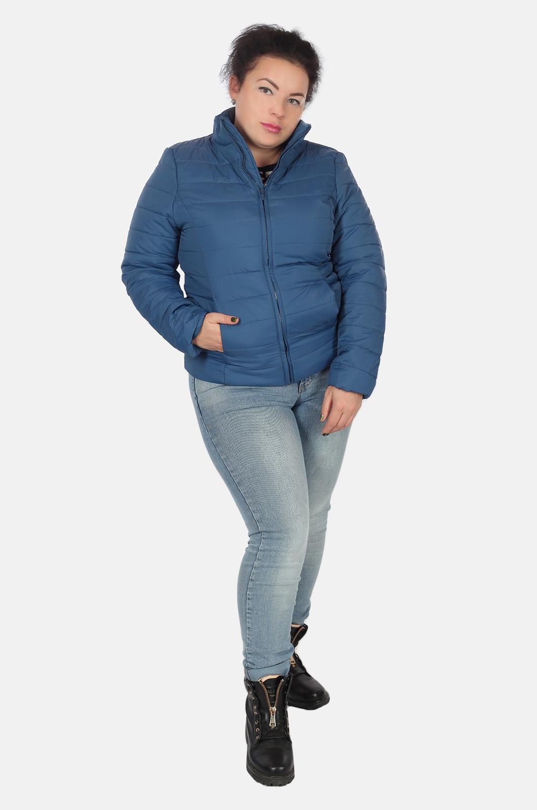Синяя короткая женская куртка Urb для межсезонья