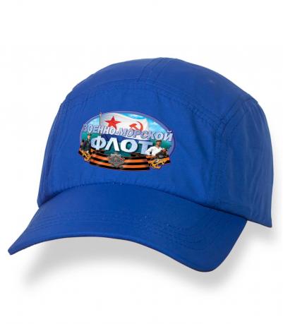 Синяя крутая бейсболка с термонаклейкой ВМФ