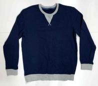 Синяя мужская кофта с серой отделкой