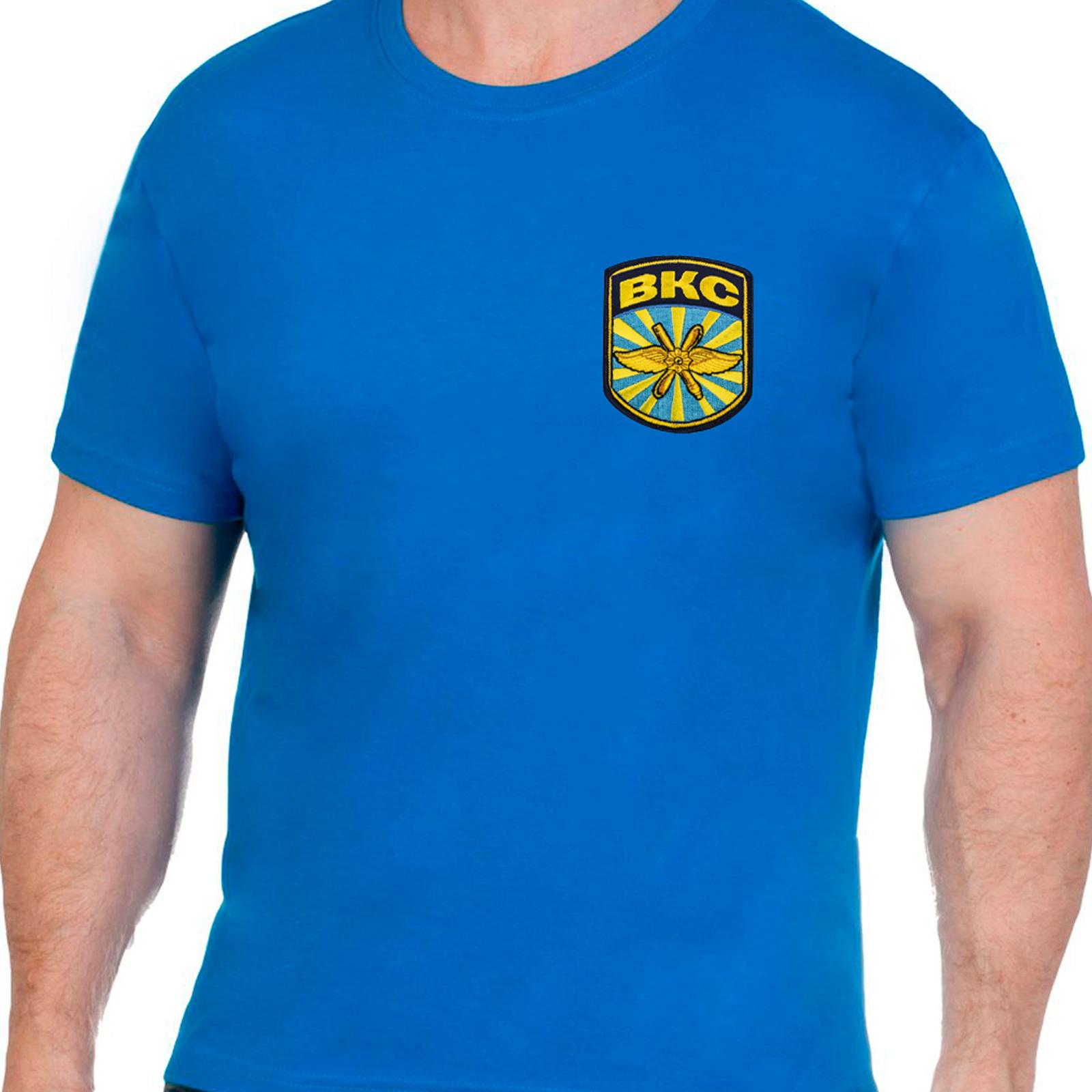 Синяя надежная футболка ВКС