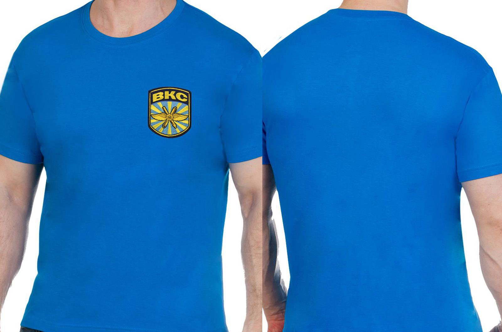 Синяя надежная футболка ВКС - купить в подарок