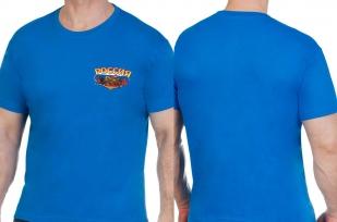 Синяя оригинальная футболка Россия - купить с доставкой