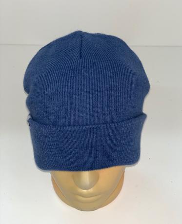Синяя практичная шапка