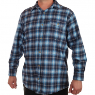 Мужская синяя рубашка-классика Old Mill