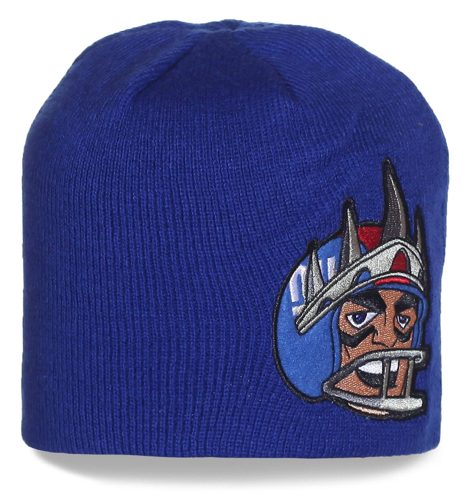 Синяя шапка профессионального клуба по американскому футболу New York Jets