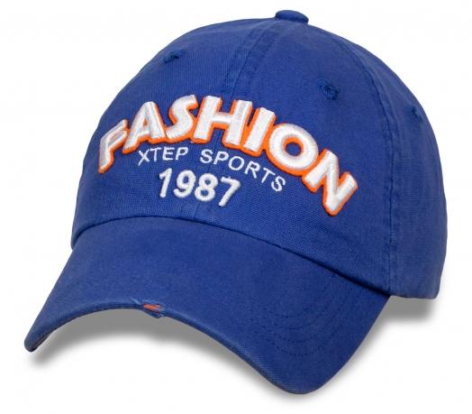Синяя спортивная бейсболка Fashion