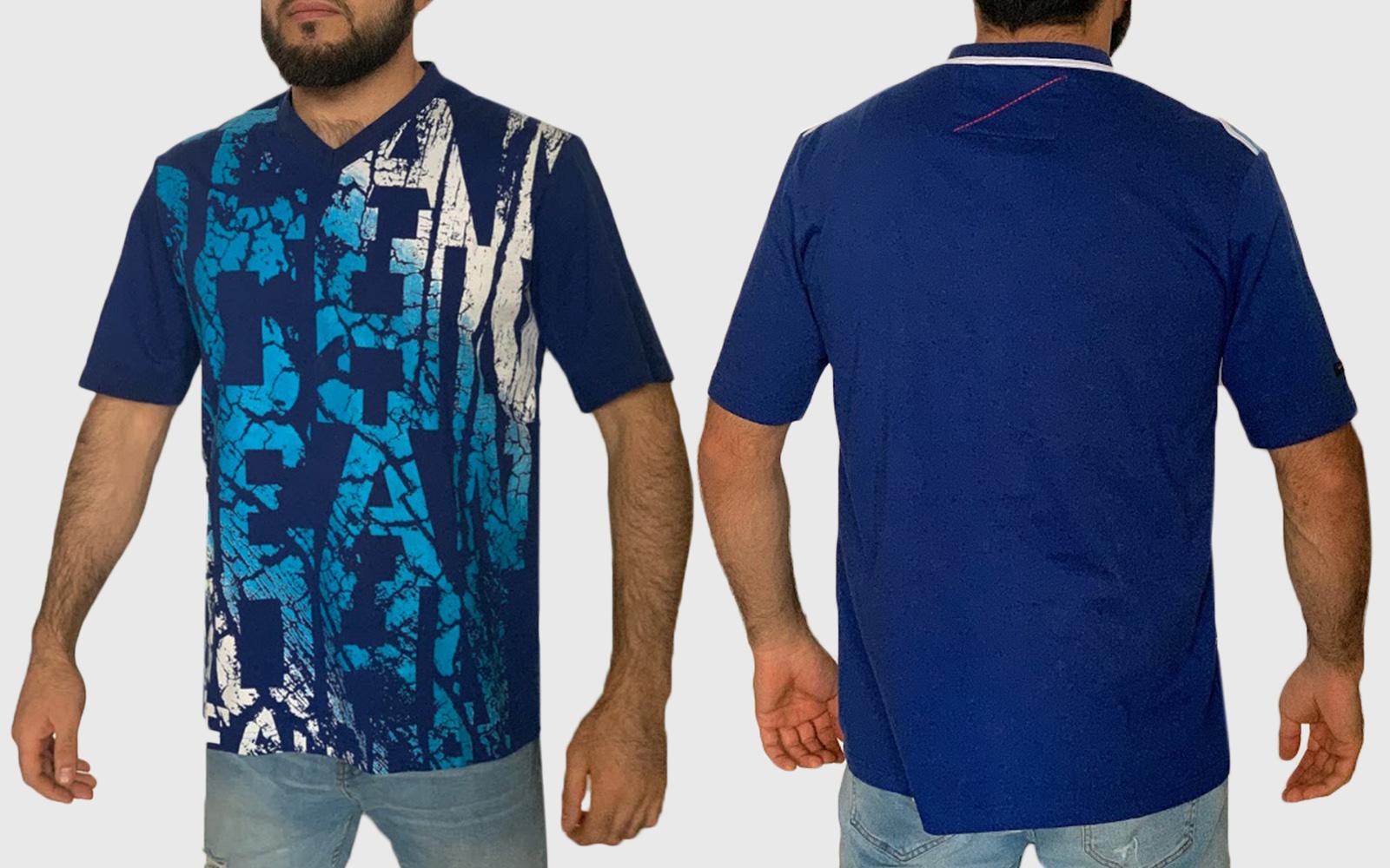 Синяя мужская футболка Sean John