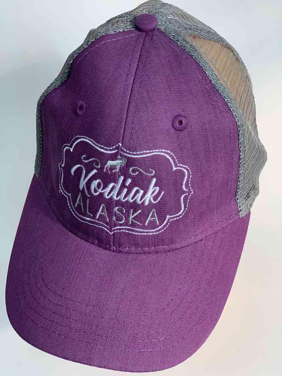 Сиреневая бейсболка с сеткой Kodiak Alaska