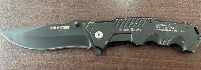 Складной армейский нож Cold Steel с удобной рукояткой