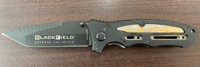 Складной армейский нож с удобной рукояткой