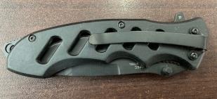 Складной эргономичный нож с перфорированной рукоятью